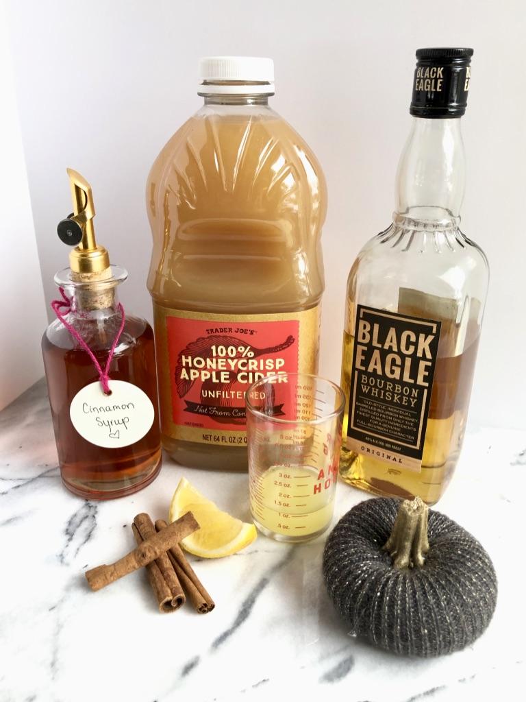 apple cider whiskey sour ingredients